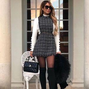 ZARA Bloggers Fave Tweed Jumpsuit Romper NWT